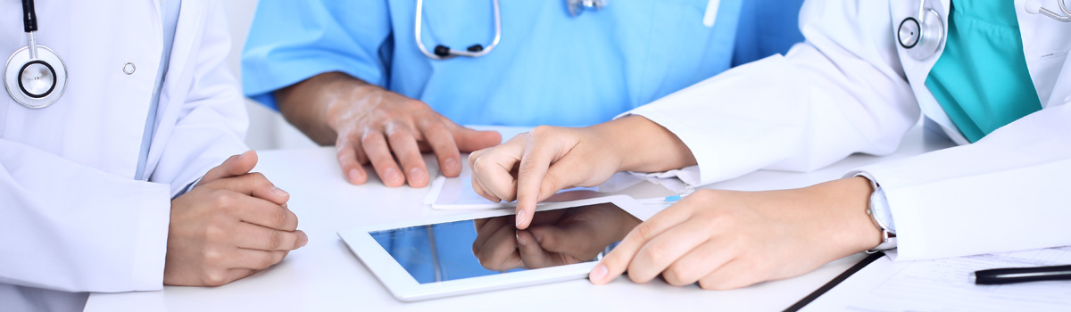 Provider using tablet